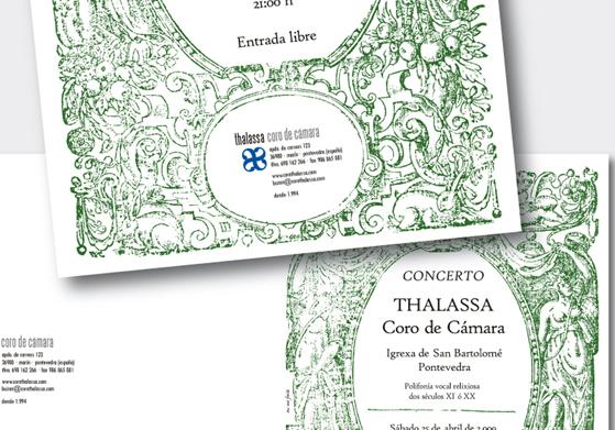 Cartel concerto Thalassa Coro de Cámara Semán Santa Marín 2009